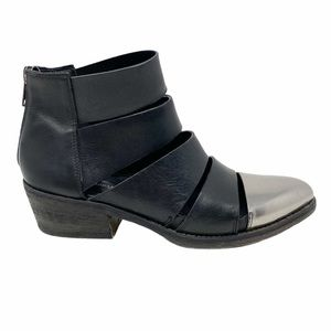 Filippo Raphael | Black Leather Cut out Booties